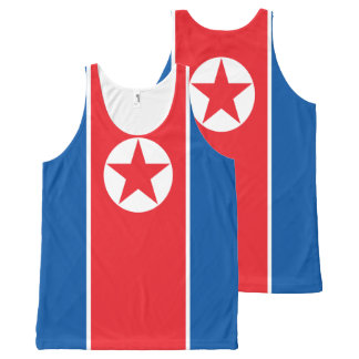 The flag of North Korea All-Over Print Tank Top