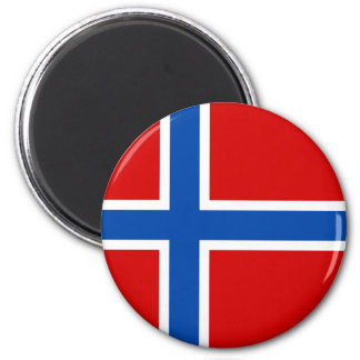 The Flag of Norway 6 Cm Round Magnet