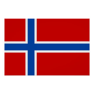The Flag of Norway Poster