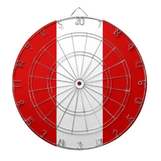 The Flag of Peru Dartboard