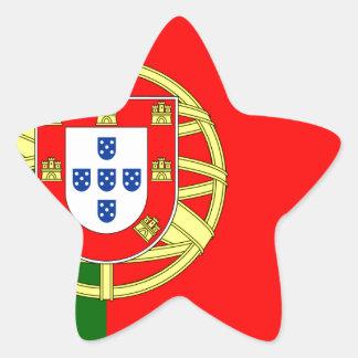 The Flag of Portugal (Bandeira de Portugal) Star Sticker