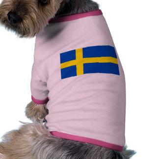 The Flag of Sweden Pet Tee