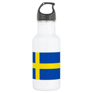 The Flag of Sweden 532 Ml Water Bottle