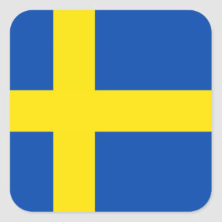 The Flag of Sweden Square Sticker