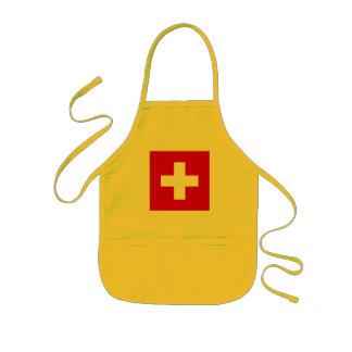 The Flag of Switzerland Kids Apron
