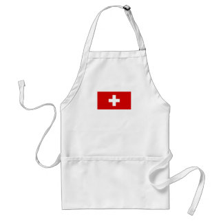 The flag of Switzerland Adult Apron