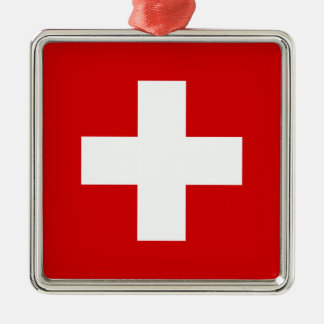 The Flag of Switzerland Christmas Ornament