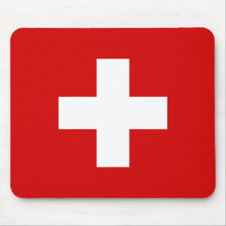 The Flag of Switzerland Mouse Mat