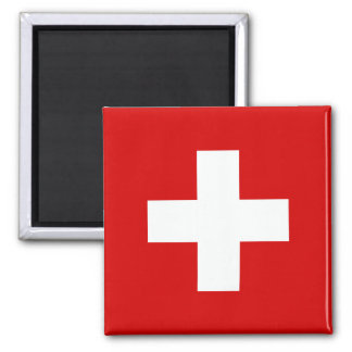 The Flag of Switzerland Square Magnet