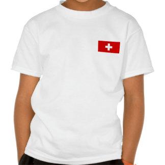 The flag of Switzerland Tshirts