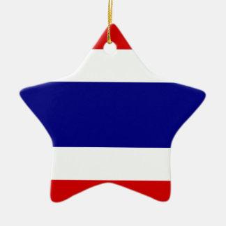 The Flag of Thailand Ceramic Star Decoration