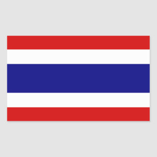 The Flag of Thailand Rectangular Sticker