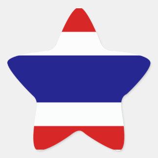 The Flag of Thailand Star Sticker