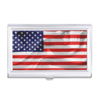 The Flag of the United States of America Business Card Holder