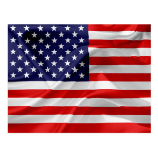 The Flag of the United States of America Postcard