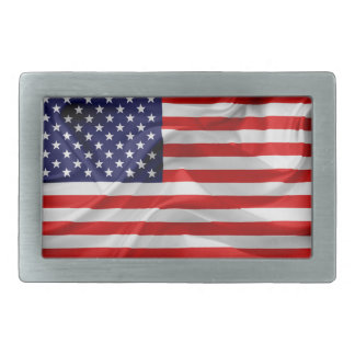 The Flag of the United States of America Rectangular Belt Buckle