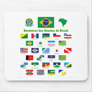 The Flags of Brazil Mouse Mat