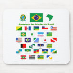 The Flags of Brazil Mouse Mats