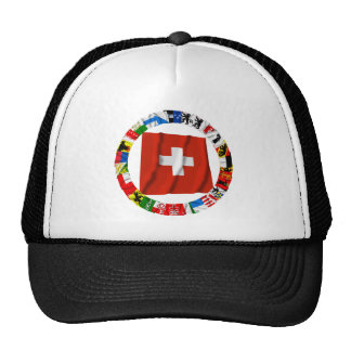 The Flags of the Cantons of Switzerland Cap