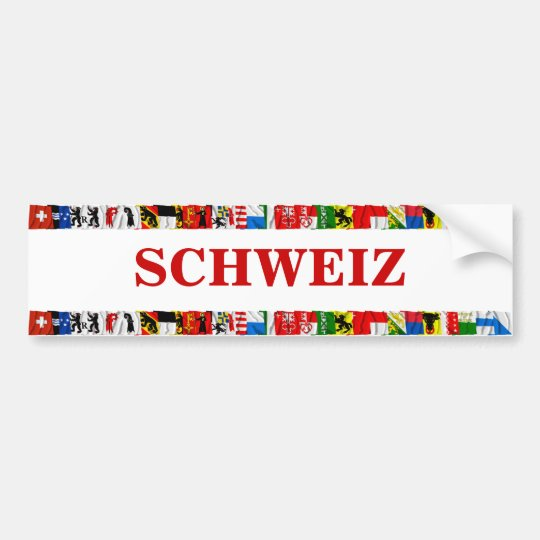 The Flags of the Cantons of Switzerland, German Bumper Sticker