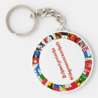 The Flags of the Cantons of Switzerland, German Key Ring