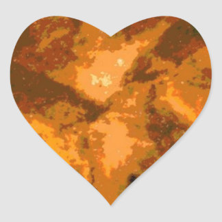 The flame of space heart sticker