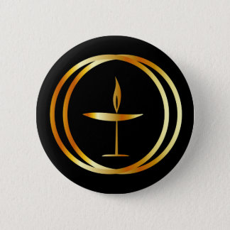 The Flaming Chalice 6 Cm Round Badge