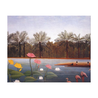 The Flamingos by Henri Rousseau Canvas Print