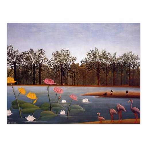 The Flamingos by Henri Rousseau Post Cards