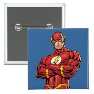 The Flash Arms Crossed 15 Cm Square Badge