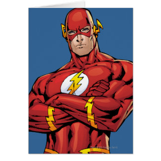The Flash Arms Crossed Card