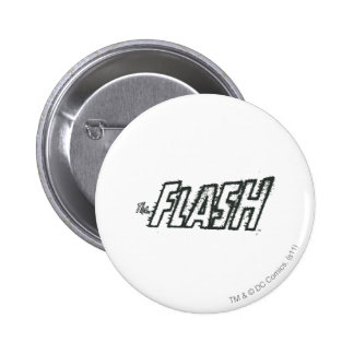 The Flash Letters Grunge 6 Cm Round Badge
