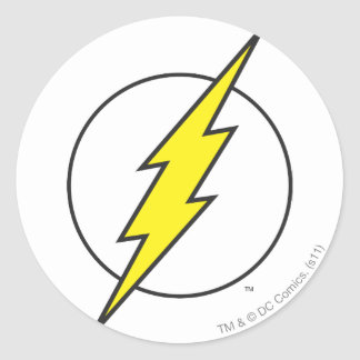 The Flash Lightning Bolt Round Sticker