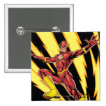 The Flash Lightning Bolts 15 Cm Square Badge