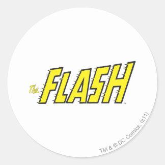 The Flash Logo Yellow Round Sticker