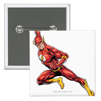 The Flash Lunging 15 Cm Square Badge