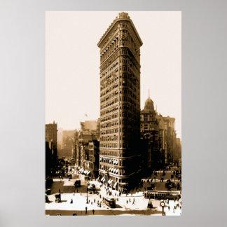 The flatiron building New York City Poster
