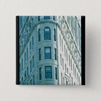 The Flatiron Building (photo) 2 15 Cm Square Badge