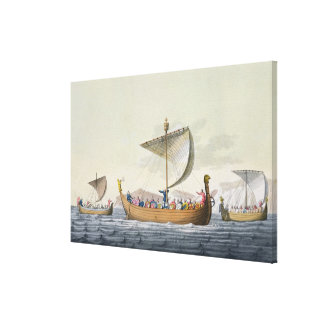 The Fleet of William the Conqueror, plate 8 from ' Canvas Print