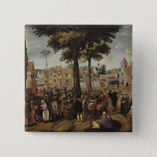 The Flemish Fair 15 Cm Square Badge