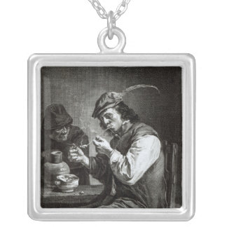 The Flemish Smoker Silver Plated Necklace