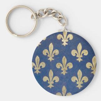 The fleur-de-lis or fleur-de-lys key ring
