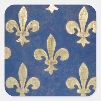 The fleur-de-lis or fleur-de-lys square sticker
