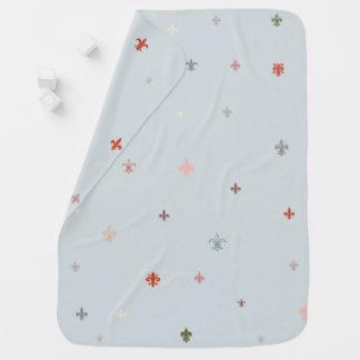 The Fleur-de-Lis - Vintage Pastel Colours Baby Blanket