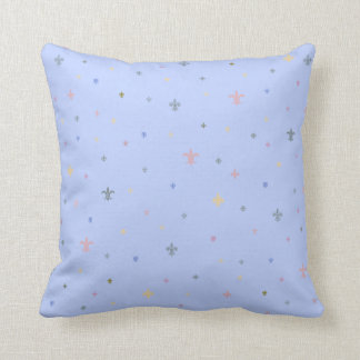 The Fleur-de-Lis - Vintage Pastel Colours Cushion