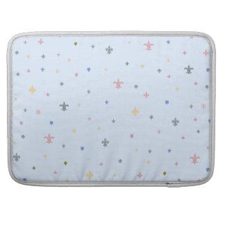 The Fleur-de-Lis - Vintage Pastel Colours MacBook Pro Sleeves