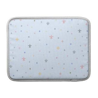 The Fleur-de-Lis - Vintage Pastel Colours MacBook Sleeve