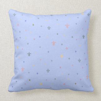 The Fleur-de-Lis - Vintage Pastel Colours Throw Pillow