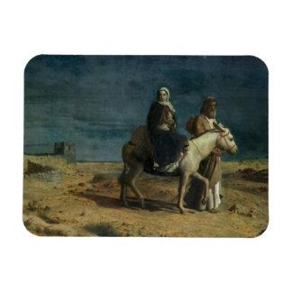 The Flight From The Sword of Herod, 1880 (oil on c Rectangular Photo Magnet