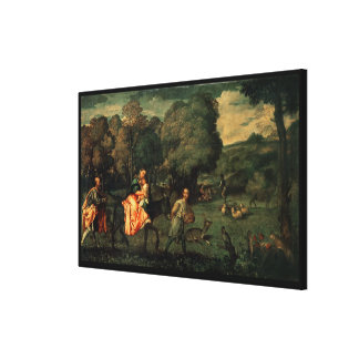 The Flight into Egypt, 1500s Canvas Print